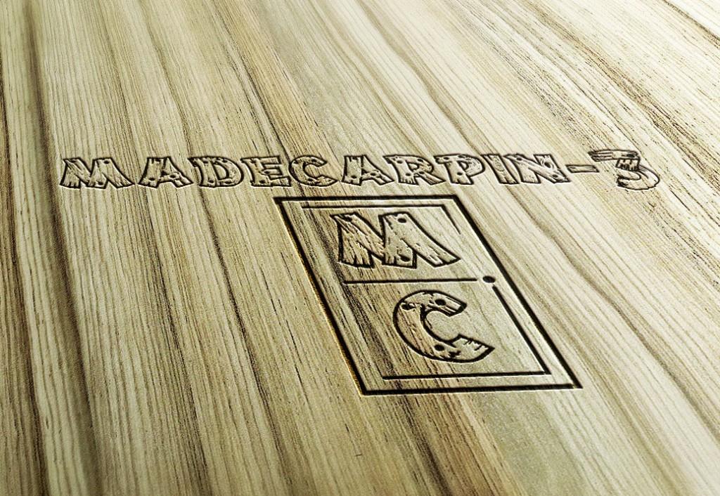 madecarpin3 Wood Logo Mockup