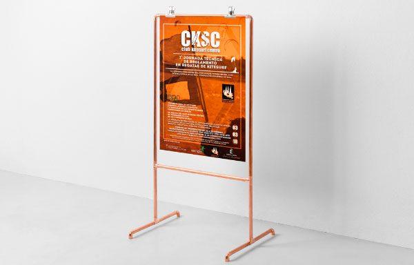 Algunos carteles CKSC