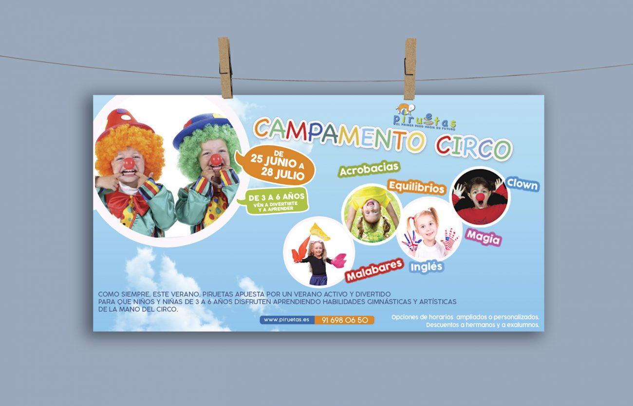 Cartel Campamento circo 2018