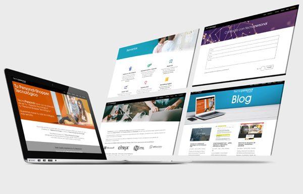 Diseño Web para tecnopersonal shopper